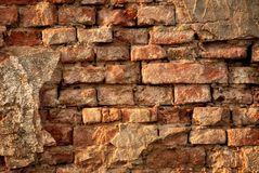 Rustic vintage brick wall Stock Photography