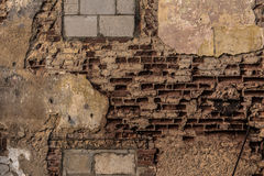 Rustic vintage brick wall in warm sunlight. As a texture or background Stock Images