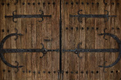 Rustic Vintage Iron Castle Doors Royalty Free Stock Photos