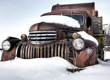 Rustic Vintage Truck In Montana Stock Photos