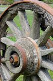 Rustic wagon wheel Stock Photography