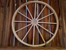 Rustic Wagon Wheel Decoration Stock Images