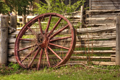 Rustic Wagon Wheel Stock Photo