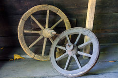 Rustic wagon wheels Royalty Free Stock Photo