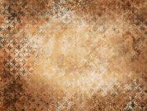 Rustic wall. Background of grunge wall texture with floral pattern stock illustration