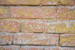 Rustic wall. bright bricks Royalty Free Stock Photo