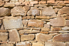Rustic wall with layers of different shapes Stock Photo