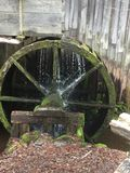 Rustic Water Wheel. Appalachian rustic water wheel for an old grist mill in Tennessee Stock Photography