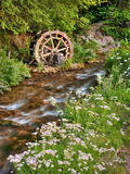 Rustic Water Wheel on Scenic Stream royalty free stock image