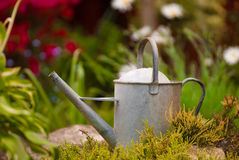 Rustic Watering Can Royalty Free Stock Photos