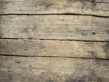 Rustic weathered barn wood background with knots and nail holes Stock Image