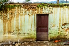 Rustic, weathered house exterior, Central America. Rustic, weathered house exterior in village near UNESCO World Heritage Site of Antigua, Guatemala, Central royalty free stock image