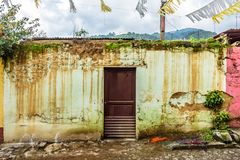 Rustic, weathered house exterior, Central America. Rustic, weathered house exterior in village near UNESCO World Heritage Site of Antigua, Guatemala, Central stock photography