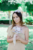 Rustic wedding. Bride. Stock Images