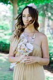 Rustic wedding. Bride. Royalty Free Stock Photo