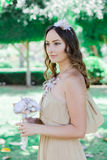 Rustic wedding. Bride. Stock Photos