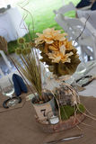 Rustic wedding centerpiece. Floral and stone rustic wedding centerpiece Stock Photo