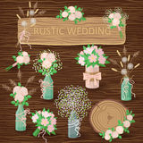 Rustic Wedding Decorations Royalty Free Stock Image