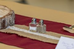 Rustic Wedding Decorations Table Centre royalty free stock images