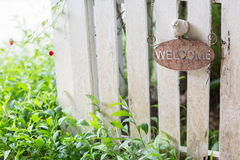 Rustic welcome sign Stock Image