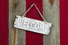 Rustic welcome sign Royalty Free Stock Images