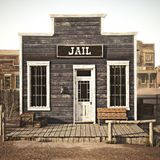 Rustic western town jail. 3d rendering. Part of a western town series royalty free stock photo