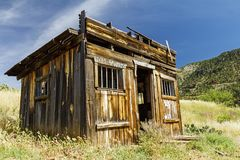 Rustic western wooden jail house Stock Images
