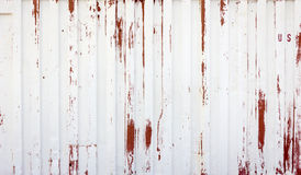 Rustic White And Red Metal Background Royalty Free Stock Photography