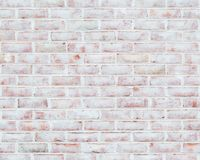 Whitewashed brick wall texture royalty free stock images