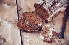Rustic wholemeal rye bread Royalty Free Stock Images