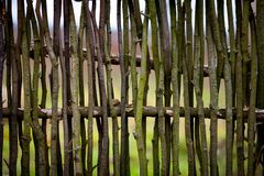 Rustic wicker fence Stock Image