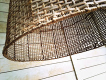 Rustic wicker lampshade Royalty Free Stock Photos