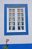 Rustic Window. Portuguese rustic window painted white Royalty Free Stock Photos
