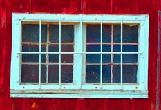 Rustic Window and Barn Royalty Free Stock Photos