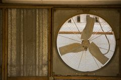 Rustic Window fan Stock Photo