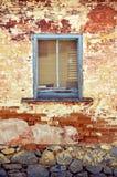 Rustic window of historic cottage Stock Photos