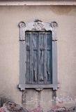 Rustic window. On rustic house in Veneto,Italy... gypsum work around window looks fascinating Royalty Free Stock Photo