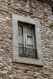 Rustic window outdoors Stock Images