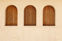 Rustic window outdoors Royalty Free Stock Photos