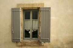 Rustic window provence france Royalty Free Stock Photography