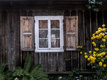 Rustic window shutters Stock Images