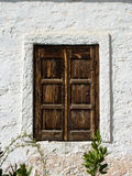 Rustic Window wooden Closed Royalty Free Stock Images