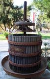 Rustic wine barrel Stock Photo