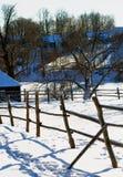 Rustic Winter Landscape Stock Images