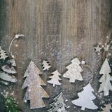 Christmas theme background in vintage style Royalty Free Stock Photos