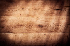 Rustic wood background texture with vignette Royalty Free Stock Photography