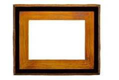 Rustic Wood/Black Picture Frame royalty free stock photo