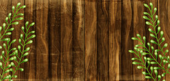 Rustic Wood Border Stock Photography