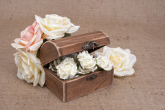 Rustic Wood Box Royalty Free Stock Photography