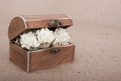 Rustic Wood Box Royalty Free Stock Images